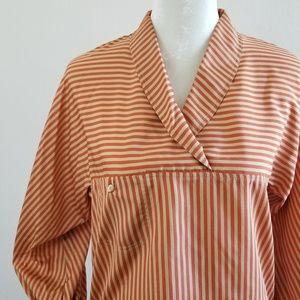 Vintage - Liz Claiborne Striped Cowlneck Blouse